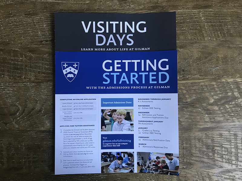 Gilman Admissions - getting started