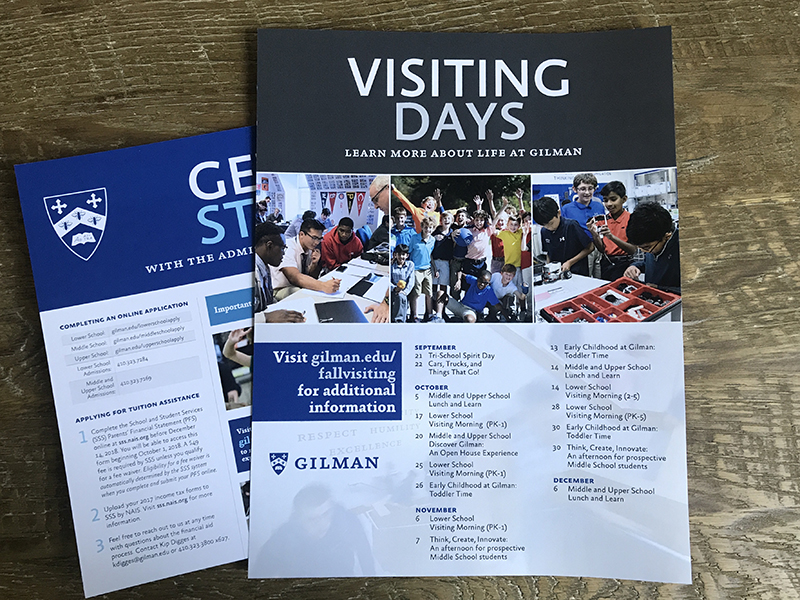 Gilman Admissions - visiting info