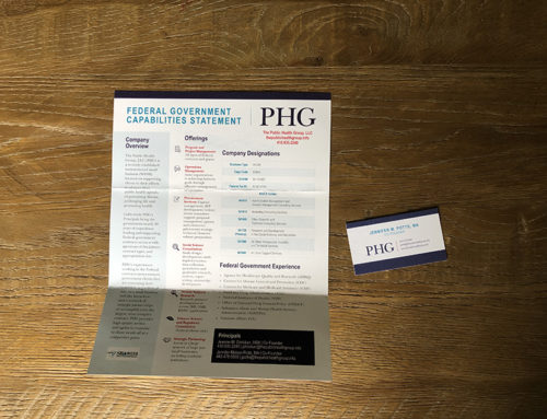 Public Health Group Info Sheet and Business Card