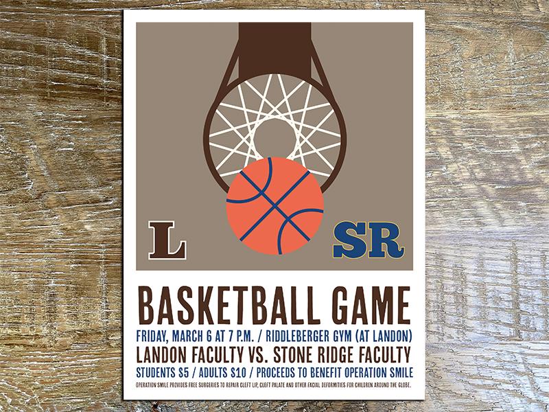Landon basketball flyer
