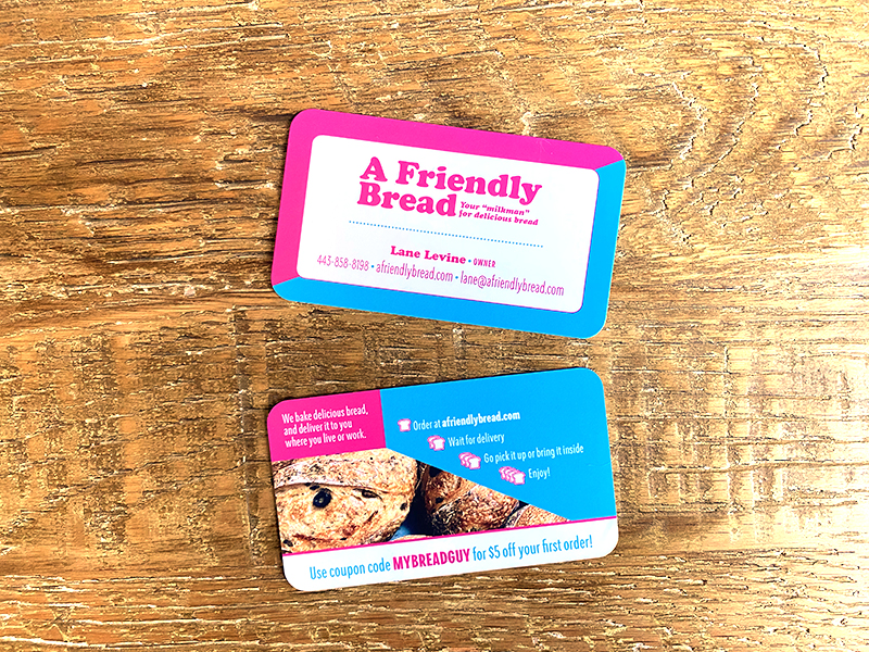 A Friendly Bread business card
