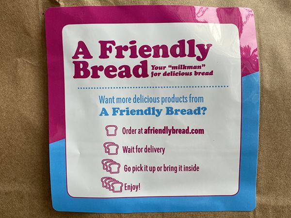 A Friendly Bread bag sticker