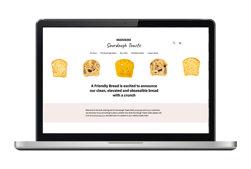 Sourdough Toasts website