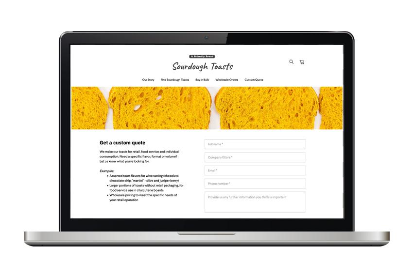 Sourdough Toasts website